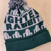Fully customised bobble hats created for Scottish band Frightened Rabbit to promote the launch of their new album 'Painting of  panic attack'