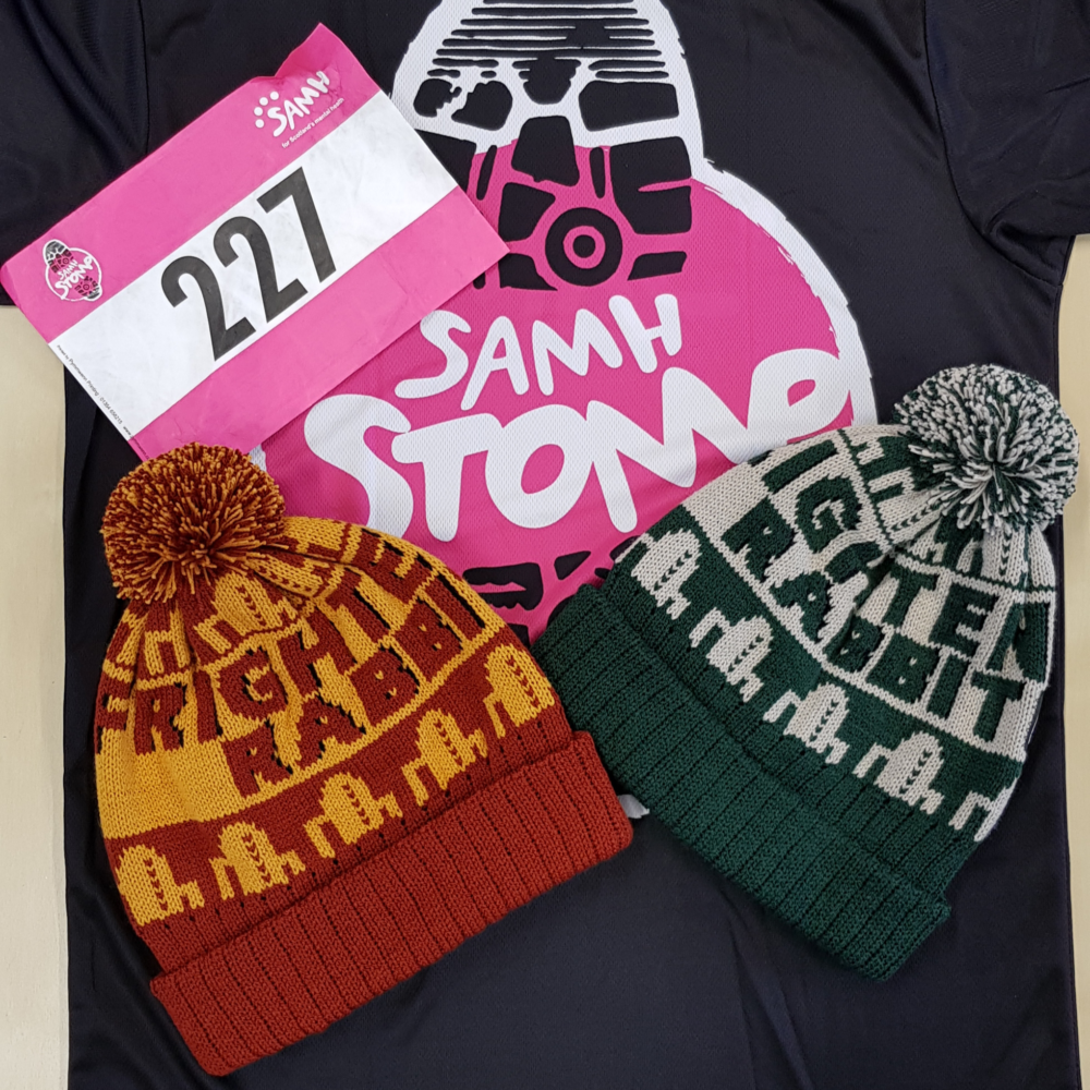 Image of Frightened Rabbit Bobble hats for SAMH Stomp