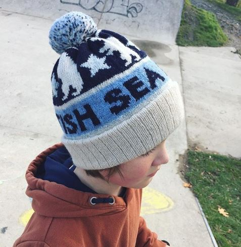 Shetland wool custom bobble hat