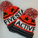Custom design hats with BIG bobbles.  Five Star Active an outdoor fitness club based in Auchterarder, Scotland.