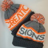 Branded bobble hats for Creation Signs, who specialise in design and manufacture of signage based in Bacup, Lancashire.