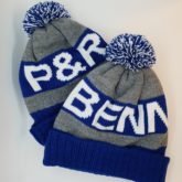 Custom bobble hats made for the Peach Carpentry & Construction team, based in Arundel, West Sussex.