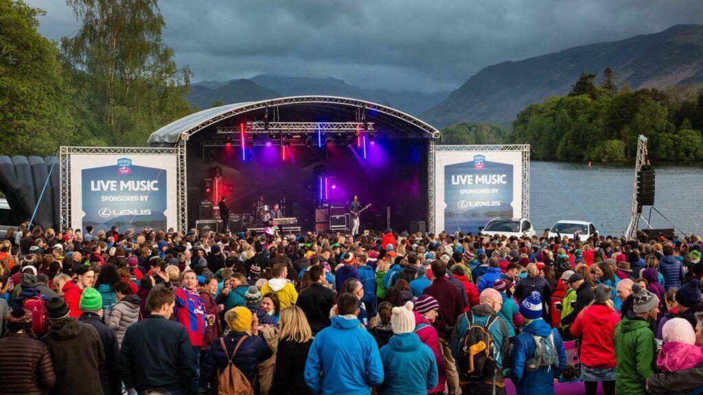 Crowd watching live music at Keswick Mountain Festival