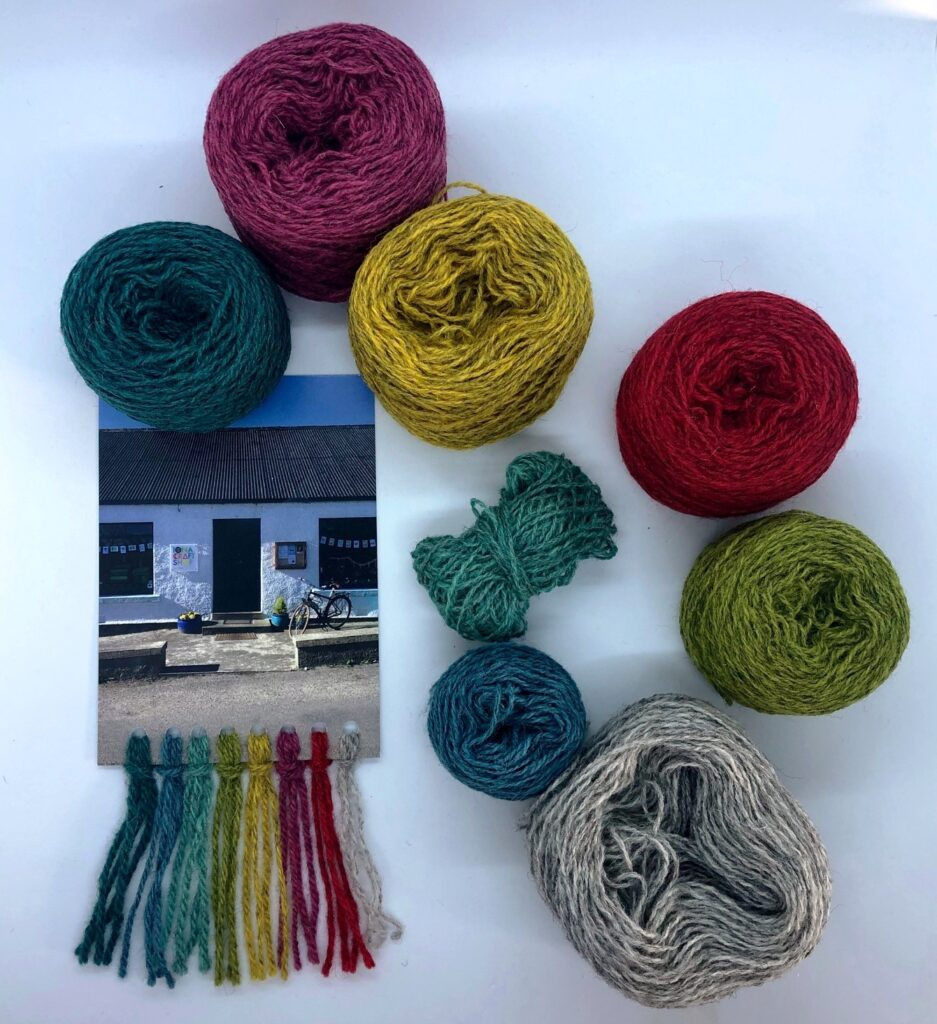 The colour palette of Iona yarns