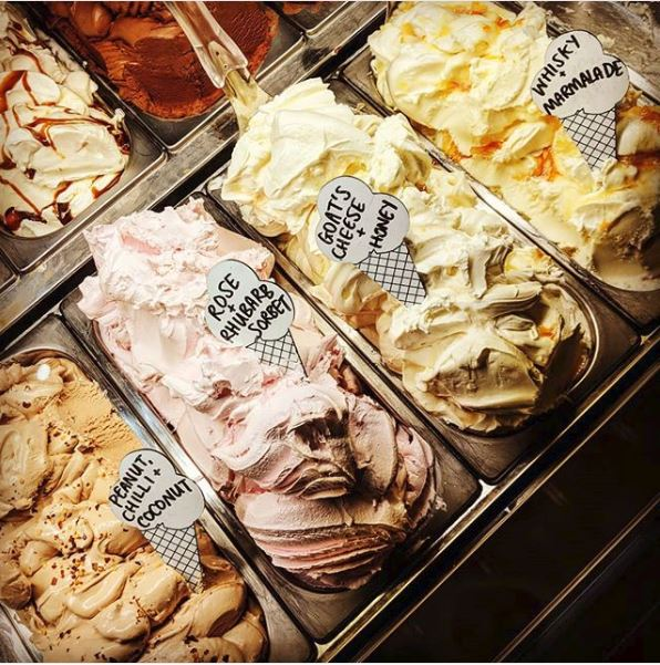 Ice cream flavours at Mary's Milk Bar.
