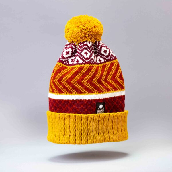 Patterned Wonky Woolies bobble hat