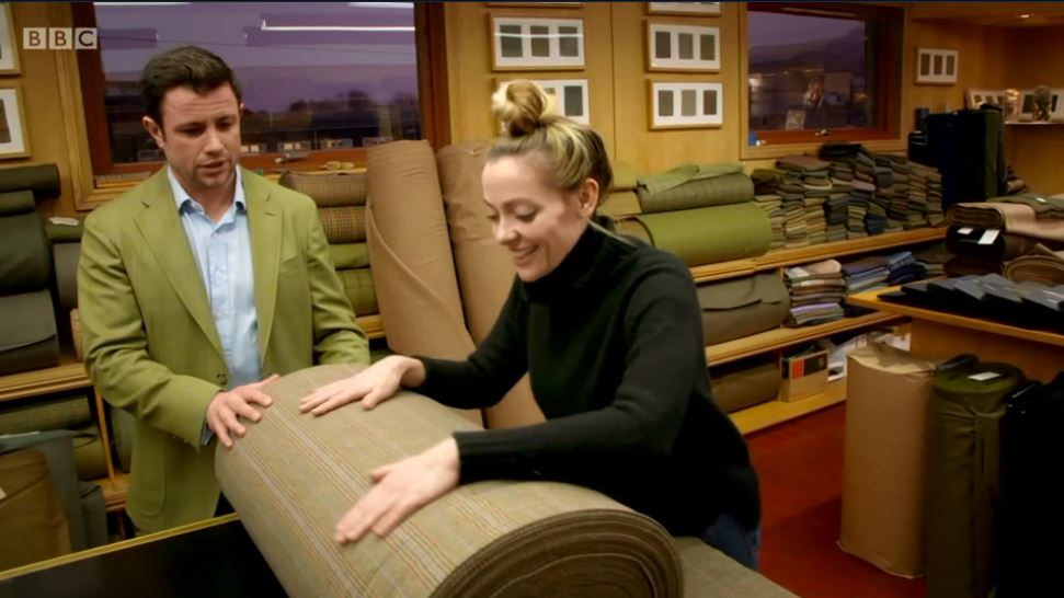 James Fleming and Cherry Healey at Lovat Mill.