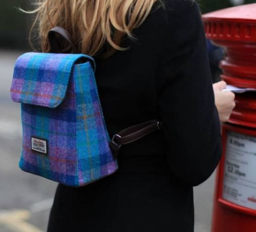 Harris Tweed Backpack which is stocked in 239 The High Street.